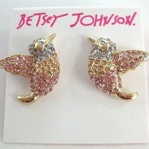 Betsey Johnson Dainty Humming Bird Stud Earrings